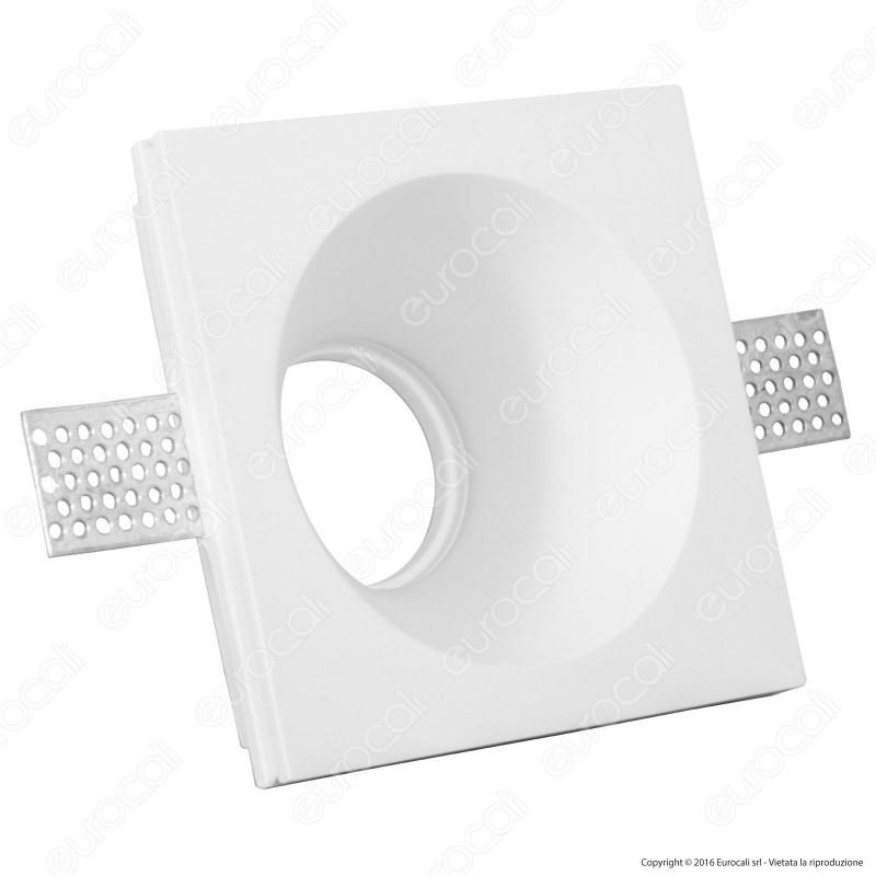 V-Tac VT 772RD Portafaretto Quadrato da Incasso in Gesso per Lampadine GU10 e GU5.3 - SKU 3653