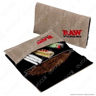 Raw Portatabacco Wallet in Tessuto di Canapa