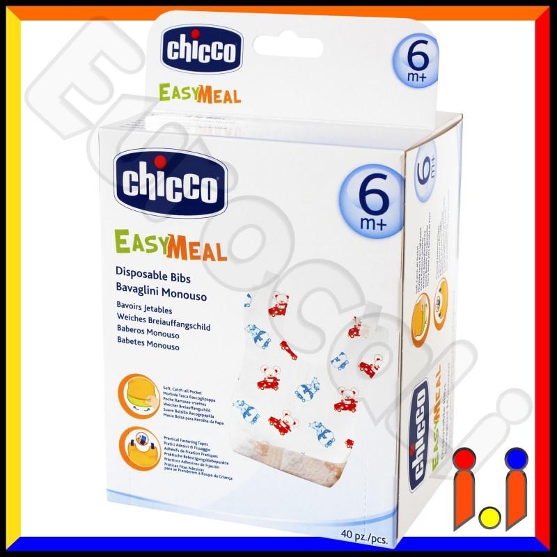 Chicco Bavaglini Monouso Easy Meal - 40 Bavaglini