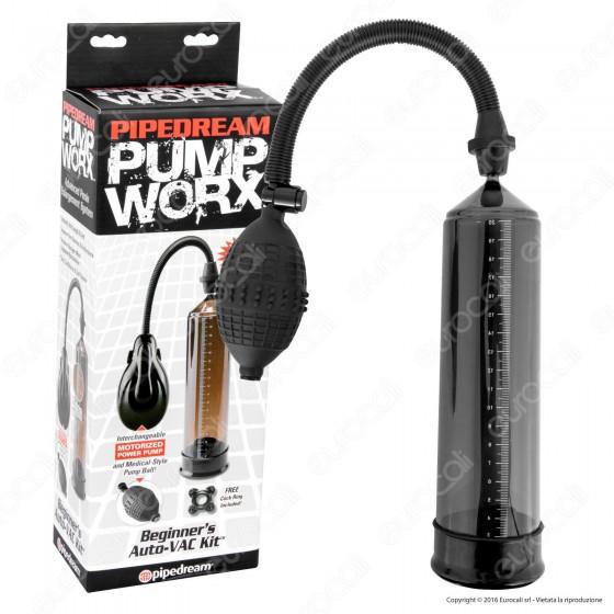 Pipedream Pump Worx Beginner's Auto-VAC Kit - Sviluppatore per il Pene a Pompa Motorizzato