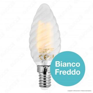 SkyLighting Lampadina LED E14 4W Candela Twist Frost Filamento