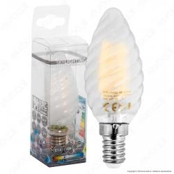 SkyLighting Lampadina LED E14 4W Candela Twist Frost Filamento - mod. TCFL-1404SC / TCFL-1404SD / TCFL-1404SF