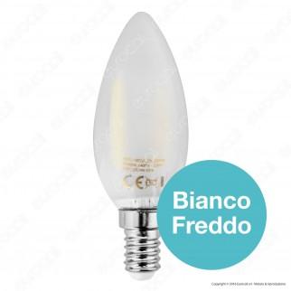 SkyLighting Lampadina LED E14 2W Candela Frost Filamento
