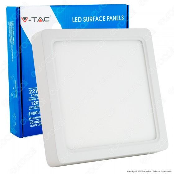 V-Tac VT-1422SQ Pannello LED Quadrato 22W SMD5630 - SKU 4814 / 4813 / 4812