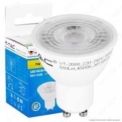 V-Tac VT-2666 Lampadina LED GU10 7W Faretto Spotlight 38° - SKU 1657 /1658 / 1659