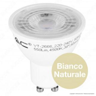 V-Tac VT-2666 Lampadina LED GU10 7W Faretto Spotlight - SKU 1657 /1658 / 1659