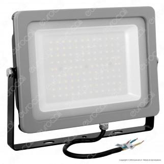 V-Tac VT-49100 Faretto LED SMD 100W da Esterno Colore Grigio - SKU 5847