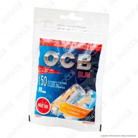 Ocb Slim 6mm con Striscia Gommata - Bustina da 150 Filtri