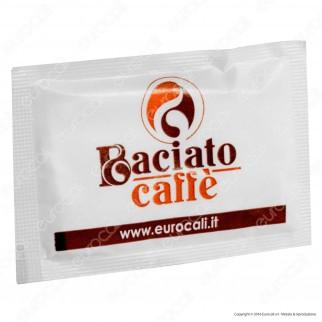 50 Bustine di Zucchero Bianco Monodose Sigillate Singolarmente Baciato Caffè