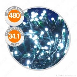 Catena 480 Luci LED Reflex Bianco Freddo con Controller Memory - per Interno e Esterno