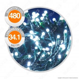 Catena 480 Luci LED Reflex Colore Bianco Freddo IP44 con Controller Memory