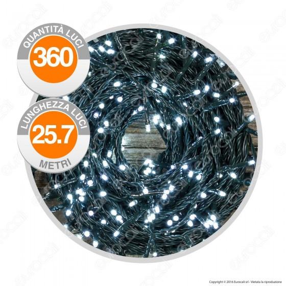 Catena 360 Luci LED Reflex Colore Bianco Freddo IP44 con Controller Memory