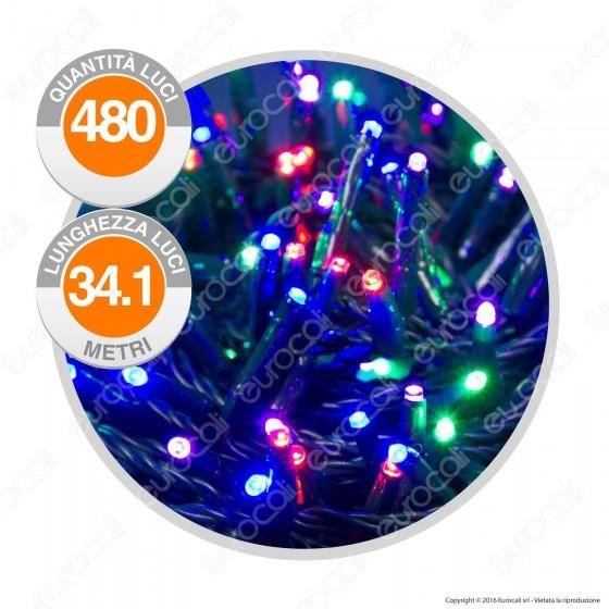 Catena 480 Luci LED Reflex Multicolore IP44 con Controller Memory