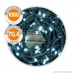 Catena 1000 Luci LED Reflex Bianco Freddo con Controller Memory - per Interno e Esterno