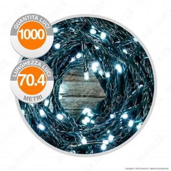 Catena 1000 Luci LED Reflex Colore Bianco Freddo IP44 con Controller Memory