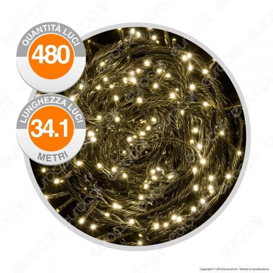 Catena 480 Luci LED Reflex Colore Bianco Caldo IP44 con Controller Memory