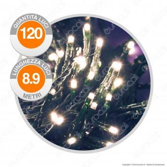 Catena 120 Luci LED Reflex Colore Bianco Caldo IP44 con Controller Memory