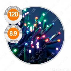 Catena 120 Luci LED Reflex Multicolore con Controller Memory - per Interno e Esterno