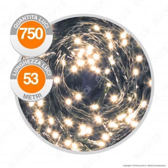 Catena 750 Luci LED Reflex Colore Bianco Caldo IP44 con Controller Memory