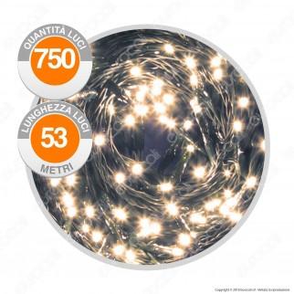 Catena 750 Luci LED Reflex Bianco Caldo con Controller Memory - per Interno e Esterno