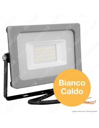 V-Tac VT-4922 Faretto LED SMD 20W Ultra Sottile da Esterno Colore Grigio e Nero - SKU 5792 / 5793