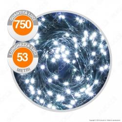 Catena 750 Luci LED Reflex Bianco Freddo con Controller Memory - per Interno e Esterno