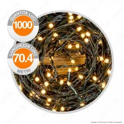 Catena 1000 Luci LED Reflex Bianco Caldo con Controller Memory - per Interno e Esterno