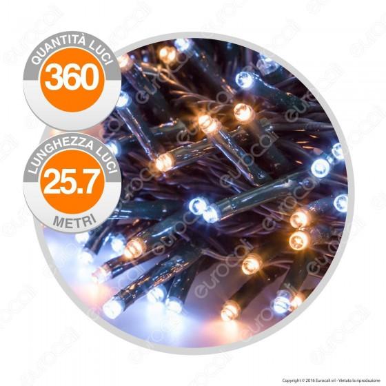 Catena 360 Luci LED Reflex Colore Bianco Caldo & Freddo IP44 con Controller Memory