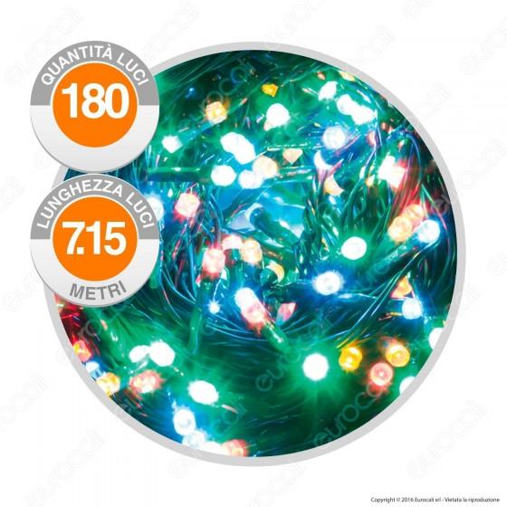 Catena 300 Luci LED Reflex a Batterie Colore Bianco Freddo IP44 con Controller Memory