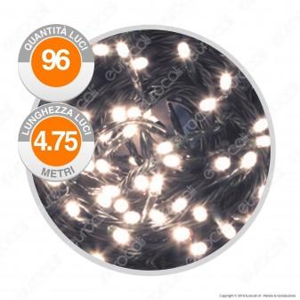 Catena 96 Luci LED Reflex Colore Bianco Caldo IP44 a Batterie con Controller Memory