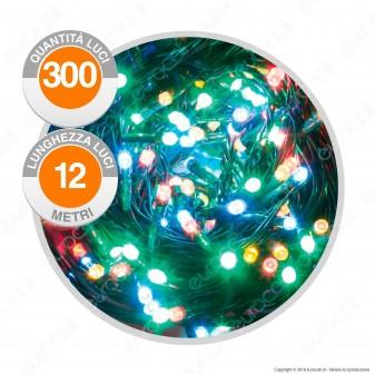 Catena 180 Luci LED Reflex Multicolore IP44 a Batterie con Controller Memory