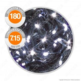 Catena 180 Luci LED Reflex Colore Bianco Freddo IP44 a Batterie con Controller Memory