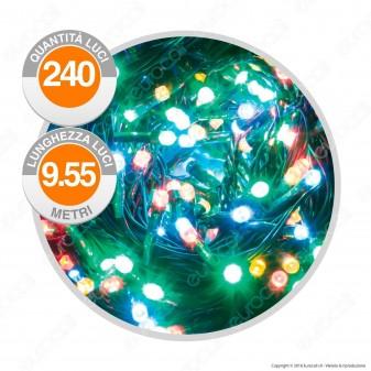 Catena 240 Luci LED Reflex Multicolore IP44 a Batterie con Controller Memory - Interno & Esterno