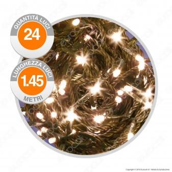 Catena 24 Luci LED Reflex Bianco Caldo IP44 a Batterie con Controller Memory - Interno & Esterno