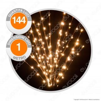 Ramo Marrone con 144 Luci LED Reflex Bianco Caldo IP44 - per Interno e Esterno