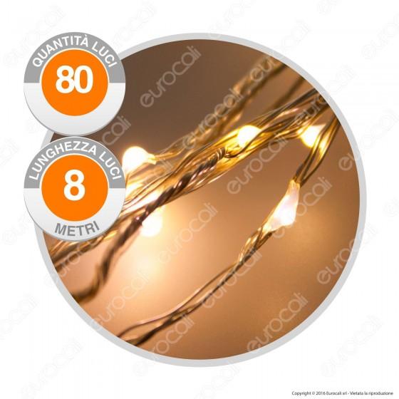 Catena con 80 Microluci LED Bianco Caldo - per Interno