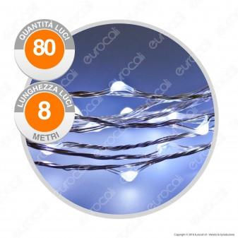Catena Anima in Metallo con 80 Microluci LED Bianco Freddo - per Interno