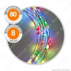 Catena Anima in Metallo con 80 Microluci LED Multicolore - per Interno