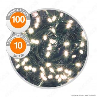 Catena Luminosa PLB 100 Luci LED Reflex Bianco Caldo Prolungabile - per Interno e Esterno
