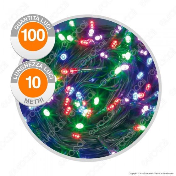 Catena Luminosa PLB 100 Luci LED Reflex Multicolore Prolungabile - per Interno e Esterno
