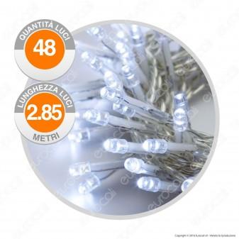 Catena 48 Luci LED Reflex Bianco Freddo a Batterie con Controller Memory - per Interno e Esterno