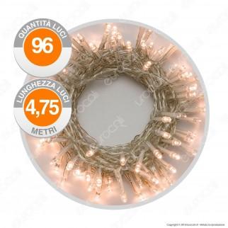 Catena 96 Luci LED Reflex Bianco Caldo a Batterie con Controller Memory - per Interno e Esterno