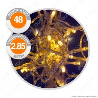 Catena 48 Luci LED Reflex Bianco Caldo a Batterie con Controller Memory - per Interno e Esterno