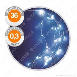 Cascata Anima in Metallo con 36 Microluci LED Bianco Freddo a Batterie - per Interno
