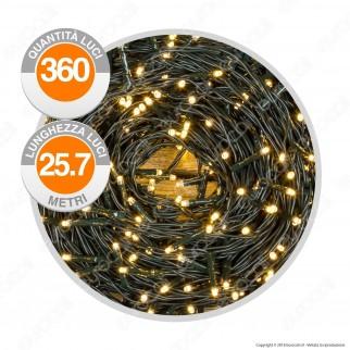 Catena 360 Luci LED Reflex Bianco Freddo con Controller Memory - per Interno e Esterno