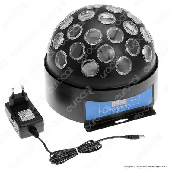 Proiettore LED Professionale Multicolore con Cupola Rotante - per Interno