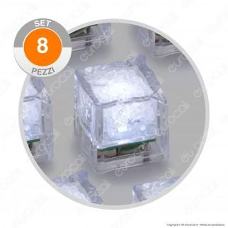 Set 8 Cubetti di Ghiaccio luminosi
