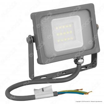 V-Tac VT-4911 Faretto LED SMD 10W Ultra Sottile da Esterno Colore Grigio - SKU 5782