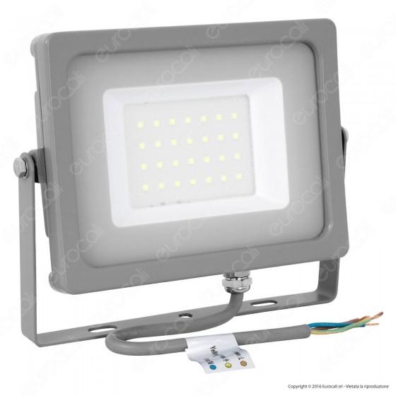 V-Tac VT-4933 Faretto LED SMD 30W Ultra Sottile da Esterno Colore Grigio - SKU 5818