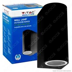 V-Tac VT-7652 Portalampada Doppio Wall Light da Muro per 2 Lampadine GU10 - SKU 7509